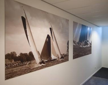30 meter wanddecoratie voor Van der Wal Makelaars